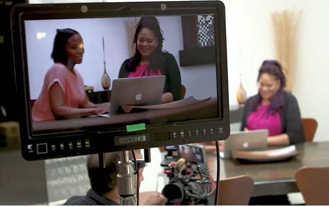 Taking a lesson from Hollywood, an institution dedicated to adult learners has brought in Emmy-winning filmmakers, producers, editors and cinematographers and put them to work creating story-oriented videos their students will see in class.