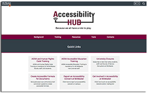 McMaster University's online accessibility hub