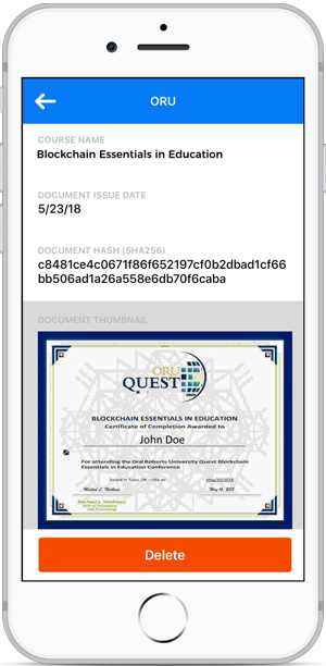 ORU's Blockchain Essentials in Education certificate