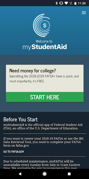 myStudentAid app
