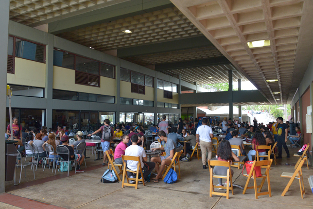 Sagrado's student center provided a gathering place for both students and faculty.