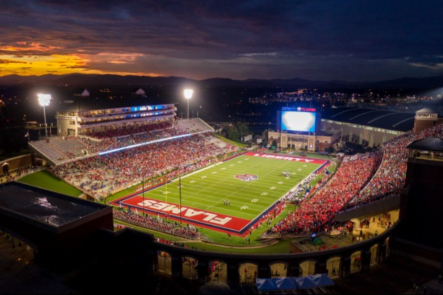 Liberty University's stadium network infrastructure has been updated for the campus' inaugural D1 football season.