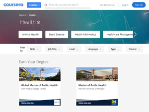 Coursera Partners with Universities on Healthcare Portfolio