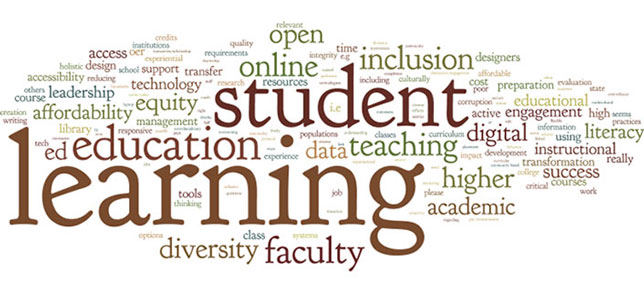 student learning word cloud