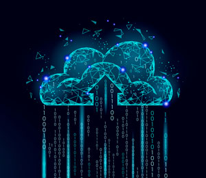 digital cloud raining data
