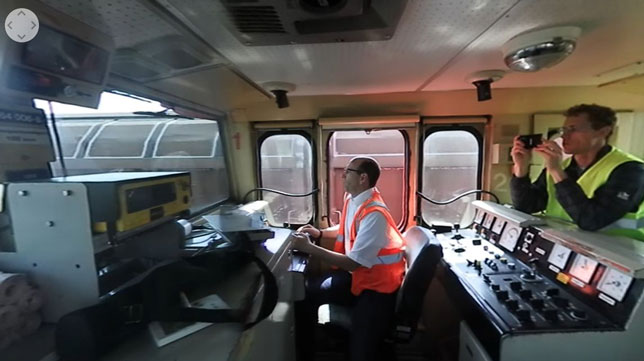 Students in Penn State Altoona's Rail Transportation Engineering program have collected 360-degree videos of trains, railroads, yards, terminals, signals and footage from operator's cabs.