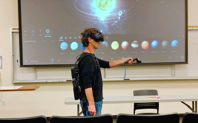 VR helps astronomy students at San Diego State University understand concepts that are hard to explain verbally.
