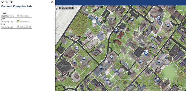 Penn State's interactive map