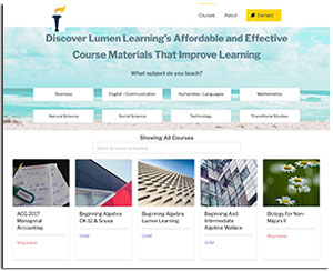 lumen learning course catalog