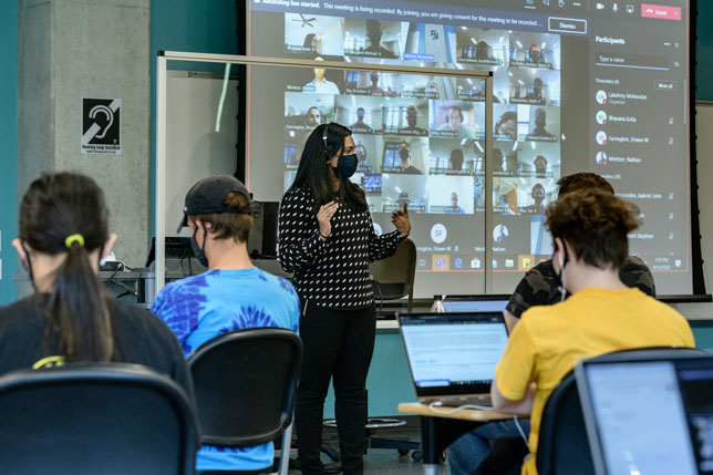 The HyFlex model is giving Purdue students the option to participate in class remotely in real time or physically attend on any given day.