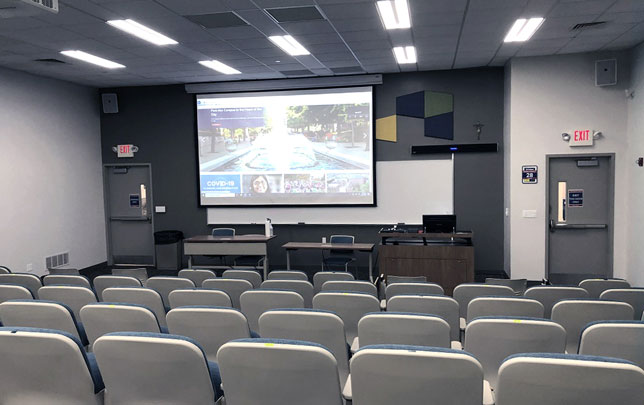 Hybrid classroom at Duquesne University