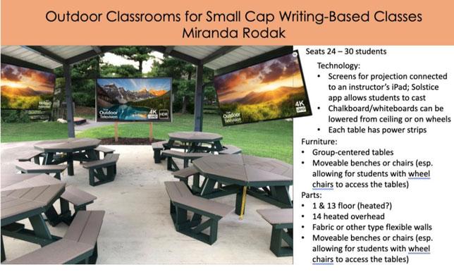 IU-Bloomington faculty member Miranda Rodak conceptualizes pavilion-inspired outdoor classroom on Indiana University's flagship campus
