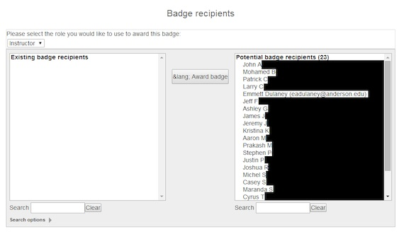 How to add badges in Moodle