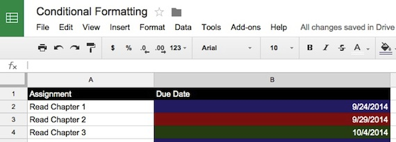 Google Sheets: Excluding Weekends in Conditional Formatting