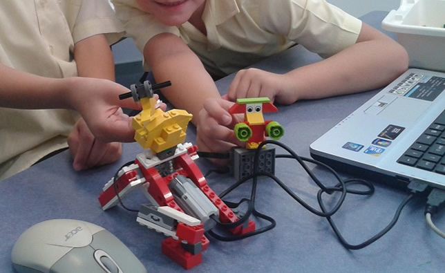 The new curriculum will use LEGO WeDo robotics to teach math to third- and fourth-graders.