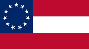 The 1861/1862 version of the Confederate flag