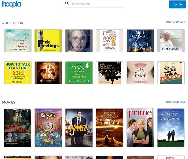 hoopla digital movie and audiobook selections