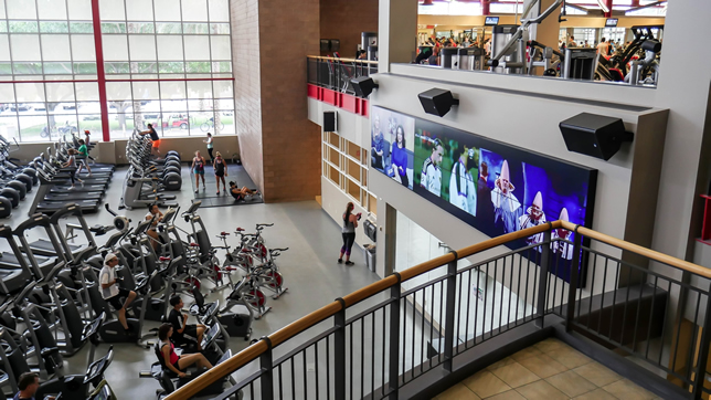 The University of Nevada, Las Vegas has added a video wall that consists of 12 Clarity Matrix LCD video displays forming a six-wide by two-high layout.