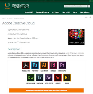 University of Miami Provides Free Access to Adobe Creative