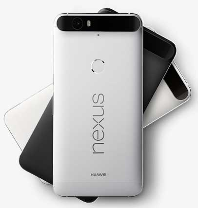 The Google Nexus 6P features an eight-core, 2 GHz processor and WQHD display.