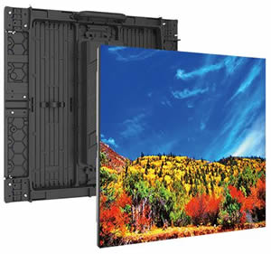 NEC's newest line of direct-view LED displays have higher than normal pixel pitch, making them suitable for being viewed from long distances.