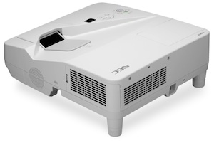 The new NEC UM-series projectors offer up to WXGA resolution and a 3,300-lumen brightness rating.