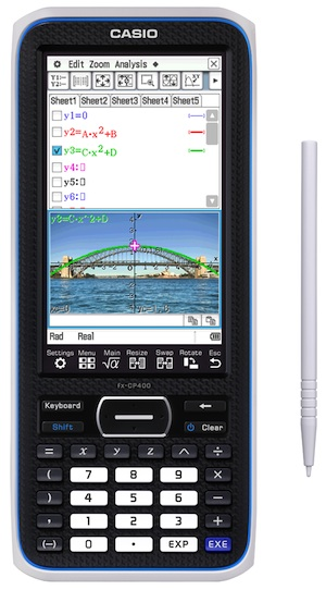 The fx-CP400 will launch next month at the National Council of Teachers in Mathematics conference.