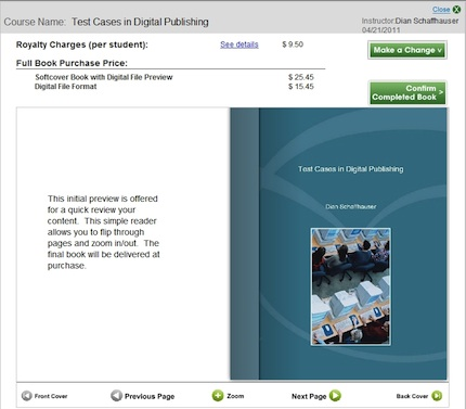 A sample textbook from AcademicPub service that incorporates copyrighted and non-copyrighted source material.