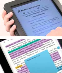 Version 1.5 iOS-based software lets users highlight and annotate materials.