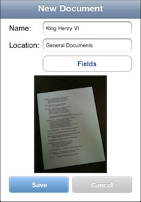Laserfiche Mobile supports cropping, straightening, and text recognition.
