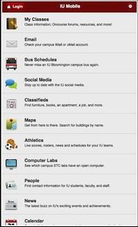 Indiana U mobile app built on the Kuali mobile framework