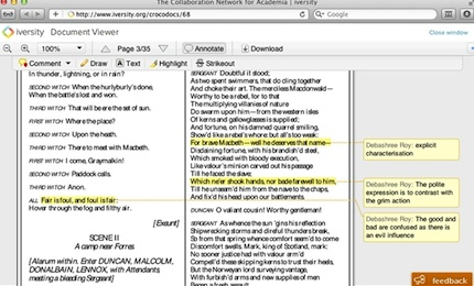Social reading is a feature that allows people to annotate PDF documents collaboratively.