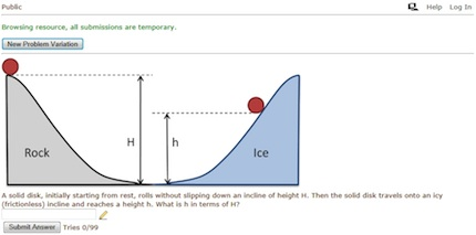 MIT Mechanics online sample problem