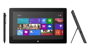 Microsoft Surface with Windows 8 Pro will run ion an Intel Core i5 chip.