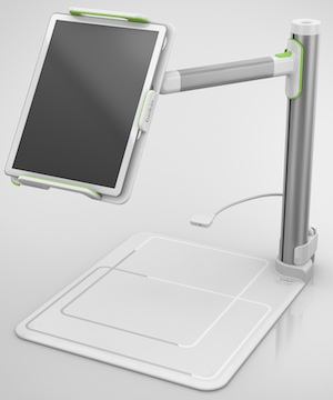 The Belkin Tablet Stage turns an iPad into a functional document camera for classroom presentations.