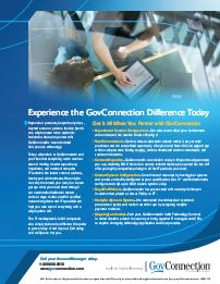 PDF Image: Experience the GovConnection Difference Today