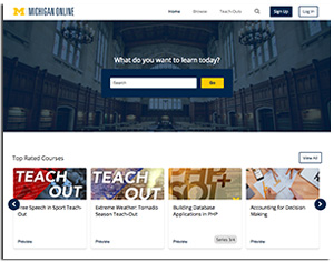 University of Michigan online portal