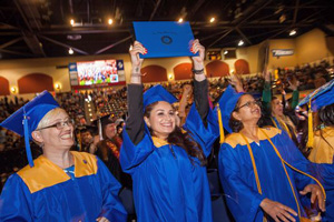 health information management graduates from San Diego Mesa College celebrate during commencement