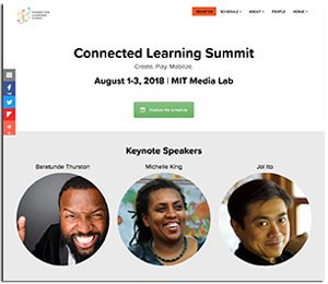 Connected Learning Summit website