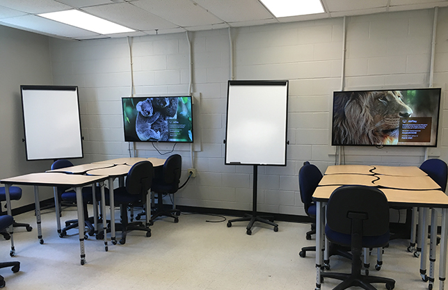 active learning classroom at Saint Anselm College