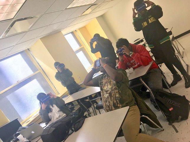 Berkeley College students tap virtual reality to engage with course materials.