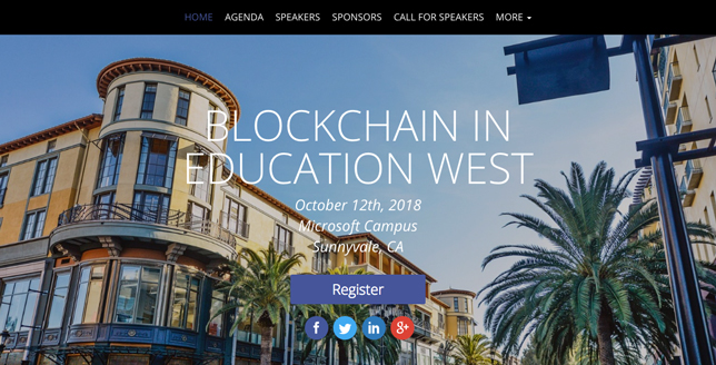 Blockchain in Education conference