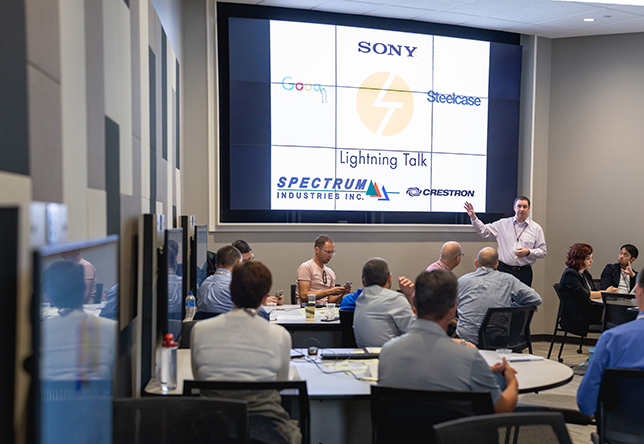 The Smart Classroom Summit convened faculty, technologists and architects along with players from Crestron, Google, Sony, Steelcase and Spectrum to generate new ideas related to current and emerging technologies.