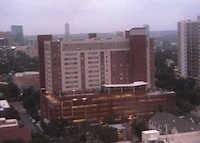 Callaway House at UT Austin, as viewed through the Construction Cam Aug. 7.