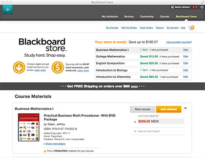 Blackboard Developing New Online Bookstore Right in the LMS