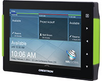 Crestron Launches New Room Scheduling Touchscreen