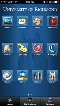 University of Richmond mobile app