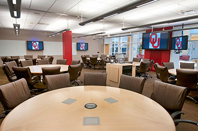University of Oklahoma The Core active learning classroom