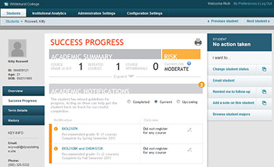 Student Success Collaborative analytics dashboard