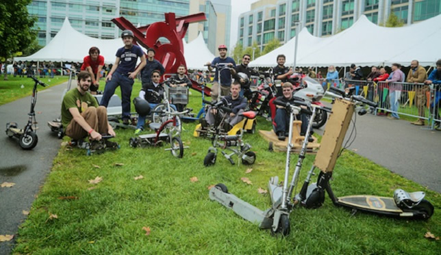 All 110 exhibitors at the MIT Mini Maker Faire demonstrated things they had created themselves.
